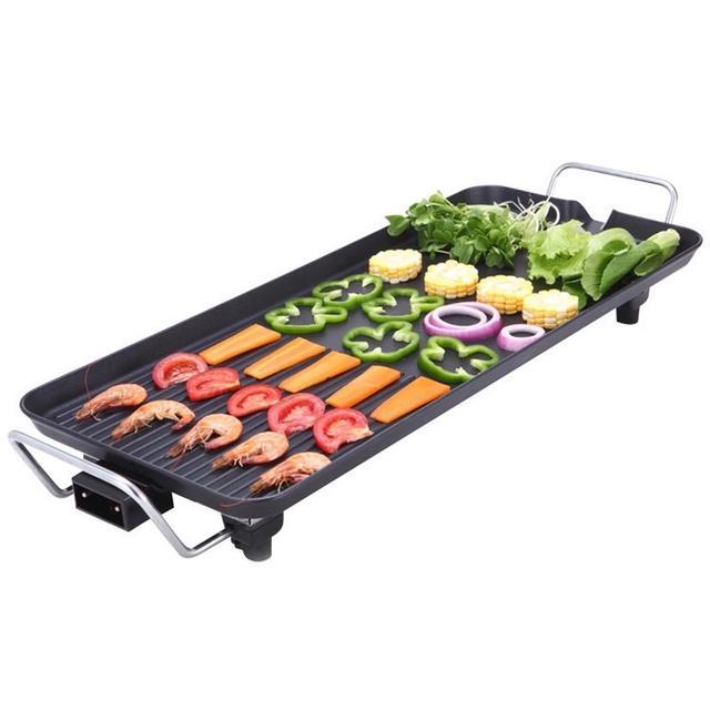 全新 110V多功能料理烤盤 臺灣專用 韓式家用電烤盤  無煙燒烤不粘鍋 電烤爐 烤肉神器 聚會燒烤