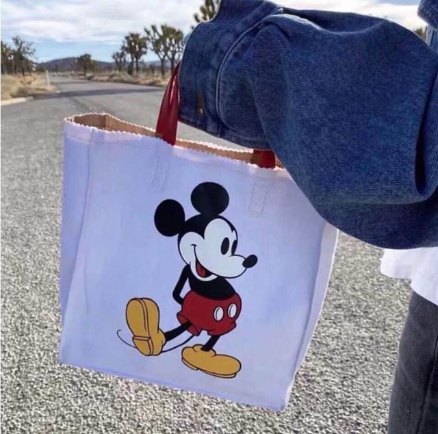 🔺批發✨最新款女包韓國東大門好可愛米奇米老鼠卡通帆布撞色手提拎包✨🔺