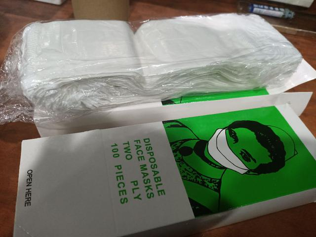 紙口罩 團膳 簡易二層口罩 一般口罩100入×6盒