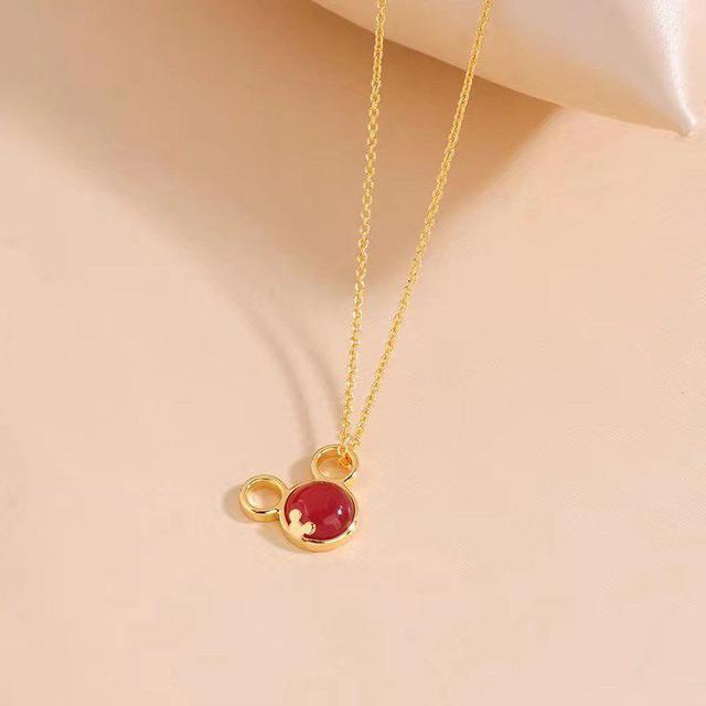 #純銀項鍊 老鼠天然紅瑪瑙925項鍊(Y20115)#香港老店 $298