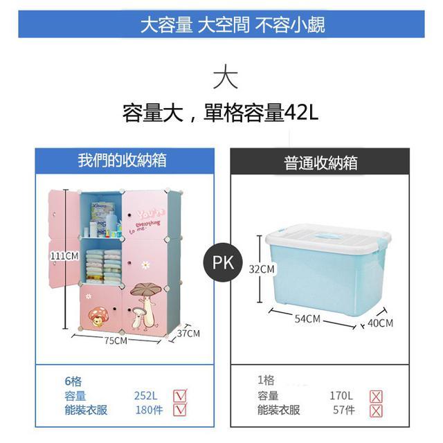 DIY可愛塑膠收納櫃 兒童衣櫃寶寶收納櫃子 抽屜式嬰兒整理櫃