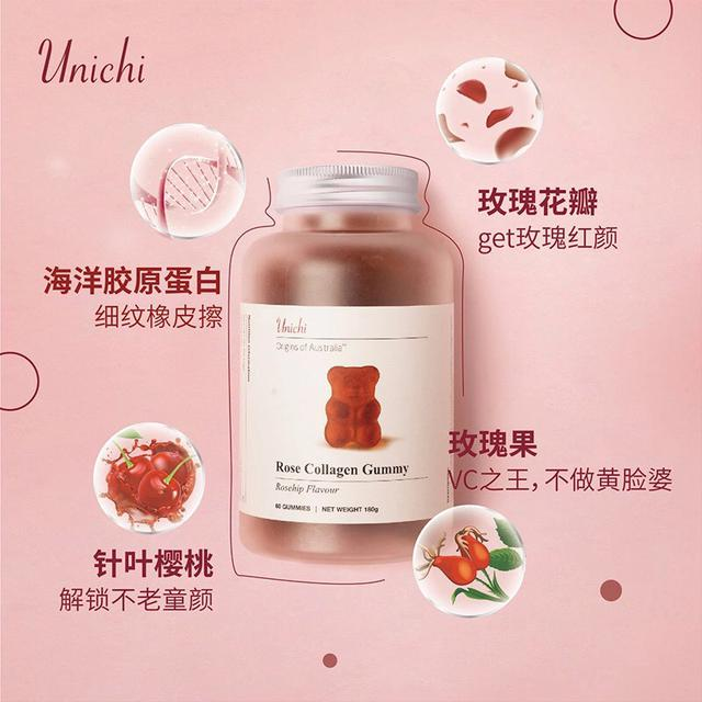 澳洲玫瑰小熊膠原蛋白軟糖