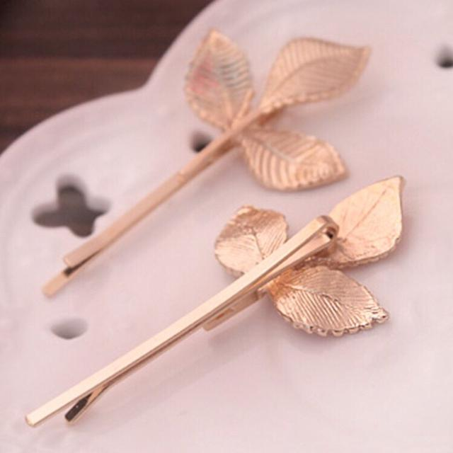 190826037金色葉子樹葉復古韓國韓式髮飾髮夾