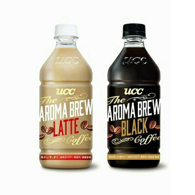 UCC 艾洛瑪拿鐵/黑咖啡525ml(24入) 瓶裝咖啡 AROMA BREW