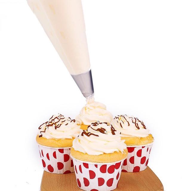 100入 一次性加厚裱花袋 奶油擠花袋 裱花工具 PE塑膠裱花袋 烘焙工具