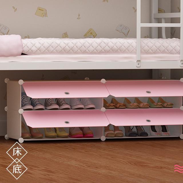DIY掀蓋式鞋櫃 簡易家用門口鞋架子