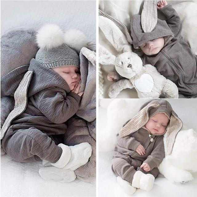 【預購】寶寶純棉兔裝(薄款)