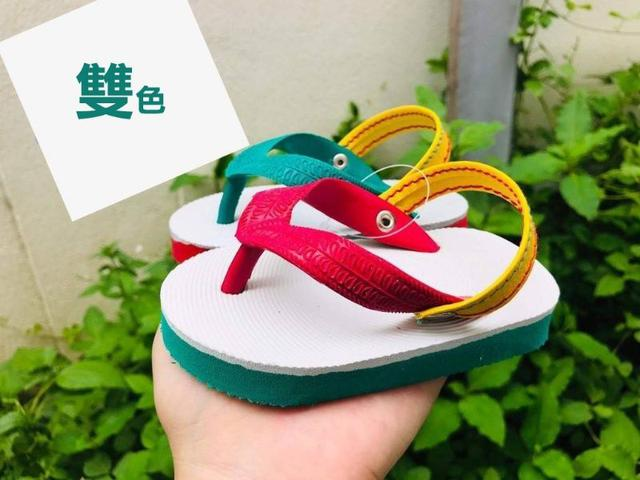 泰國超可愛復古懷舊 兒童夾腳~親子藍白拖鞋