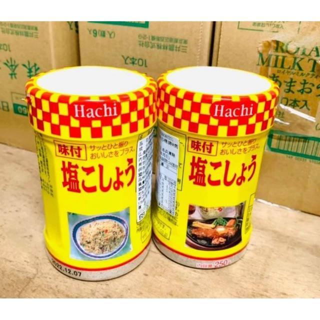 預購🇯🇵日本🇯🇵 HACHI 胡椒鹽( 黃罐 )250g