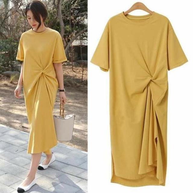 (預購s+) D021-韓版時尚短袖連衣裙