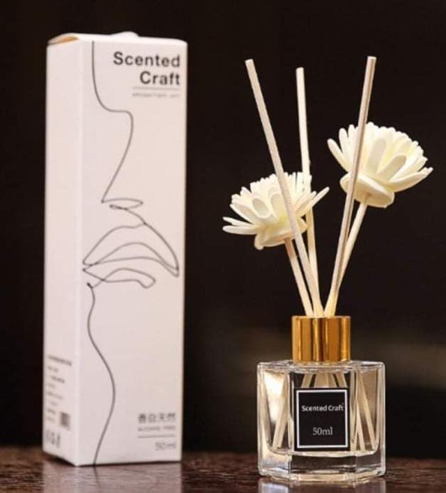 🟠複芳香味質感精油擴香瓶 50ML(白盒裝)