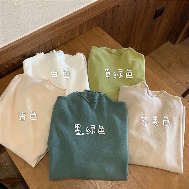 B 12/11 基礎款顯瘦多色長袖針織衫(5色)