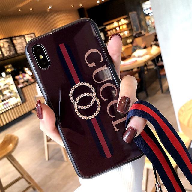 蘋果X手機殼iPhone11Xsmax/8/7plus玻璃殼水鑽r9s潮牌vivox9x23殼