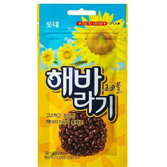 韓國 樂天 LOTTE 葵花子巧克力 30g