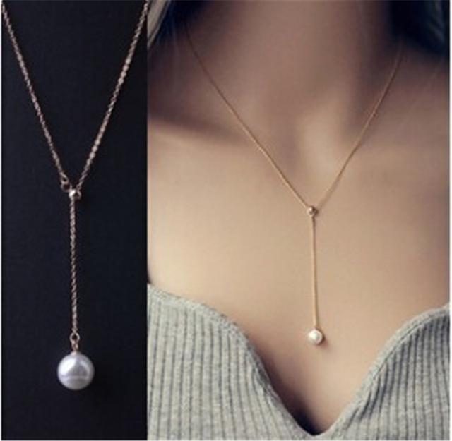 CX5166  鎖骨珍珠項鍊