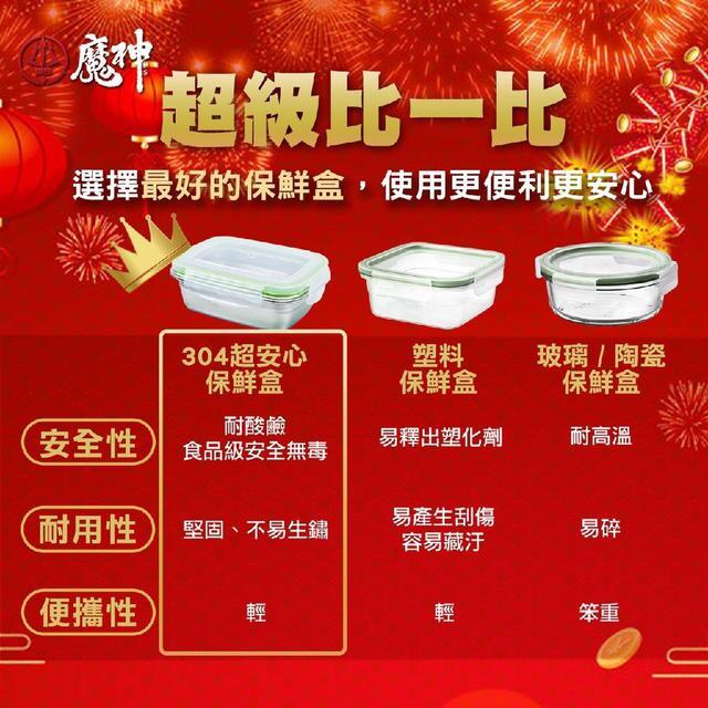 (預購e) 魔神304超安心料理保鮮盒組