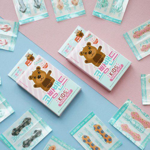 韓國 抱抱熊兒童舒緩鼻塞貼 1組10片