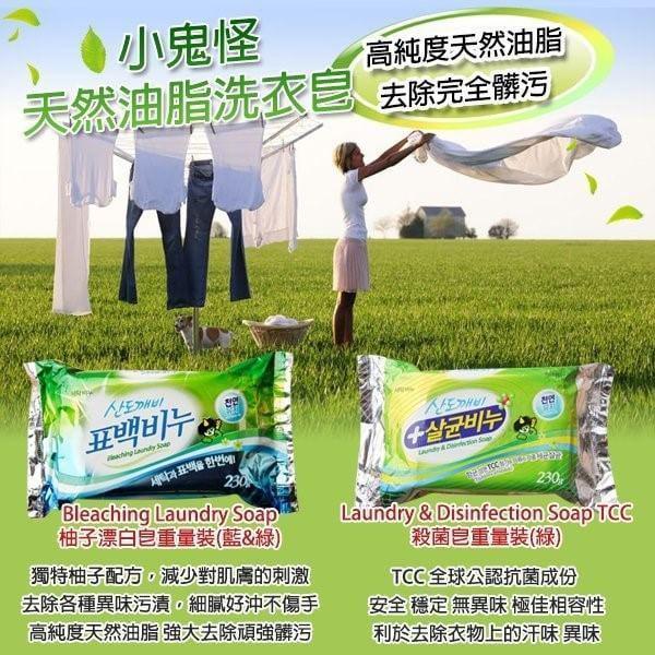 韓國小鬼怪TCC洗衣殺菌皂230G重量版(單顆)