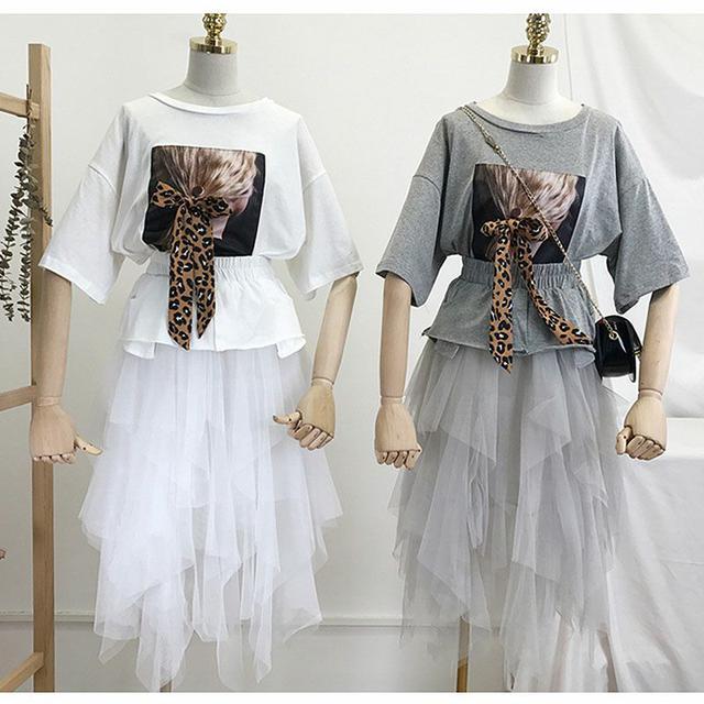 豹紋蝴蝶結T恤