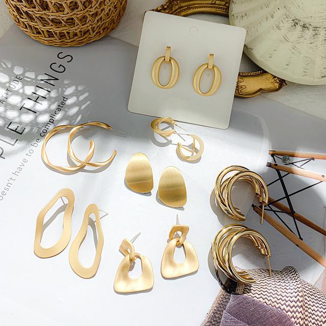 925銀針 金屬感耳環