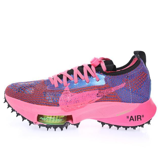 競速馬拉松無系帶系列低幫輕量超跑運動氣墊慢跑鞋「騷粉黑賽車藍」CV0697-400