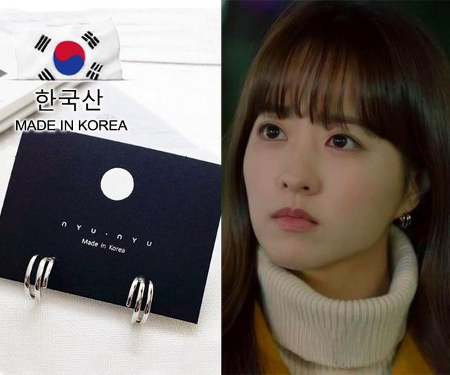 正韓空運 – 流行超級火紅的韓劇《某一天滅亡來到我家門前》-朴寶英同款耳環