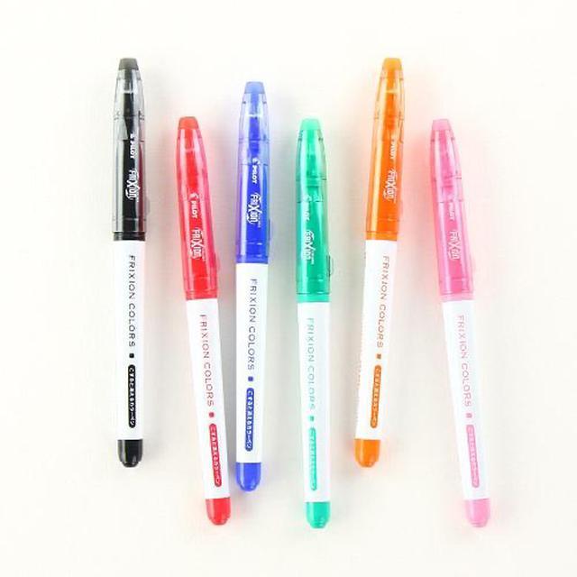 日本原裝可擦彩筆|pilot百樂磨摩擦可擦簽字水彩筆六色裝
