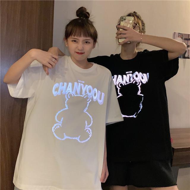 【預購】熱銷!發光熊短袖閨蜜上衣