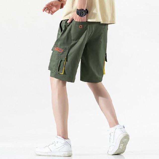 M~5XL 優質純棉休閒大口袋運動沙灘中褲(4色)