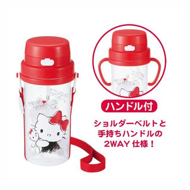 日本🇯🇵 Hello Kitty 2WAY耐冷耐熱兒童水壺