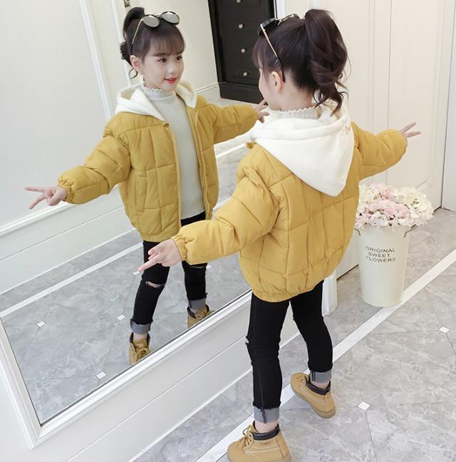 12/6 110-160 童裝 連帽加厚棉服外套(3色)