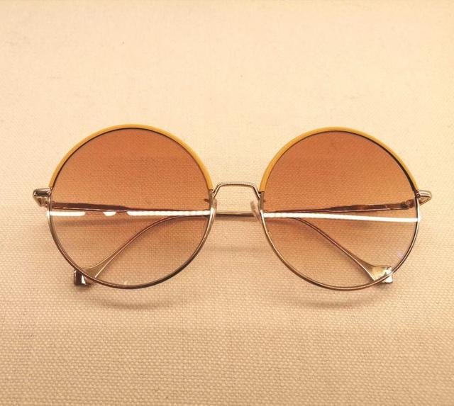 LOEWE 金色金屬圓框太陽眼鏡