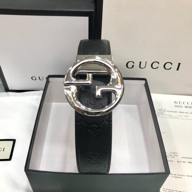 Gucci 古奇官網經典  正品規格 原版品質 ✨ 雙面頭層小牛皮壓大花