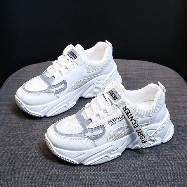 厚底老爹鞋女2020春秋新款網紅運動鞋休閒百搭學生跑步鞋子女韓版 尺寸35-40