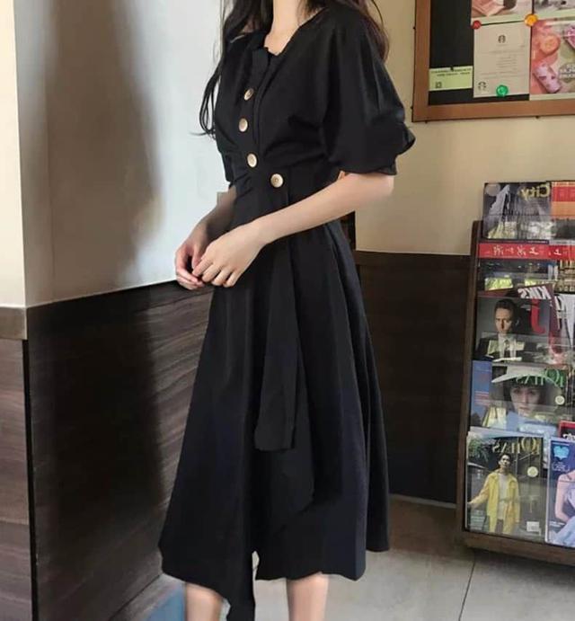 【預購】赫本風下擺不規則洋裝