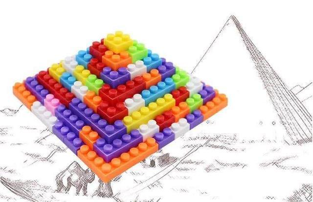 (預購S)兒童益智顆粒積木250粒收納箱組