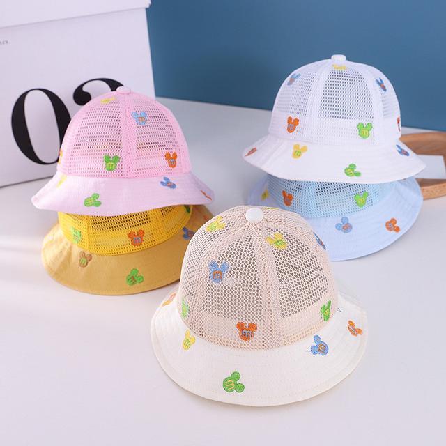 🔥廠商現貨🔥2021.3月新款 嬰兒網帽 夏天嬰幼兒帽子遮陽網帽6-24個月 童帽批貨