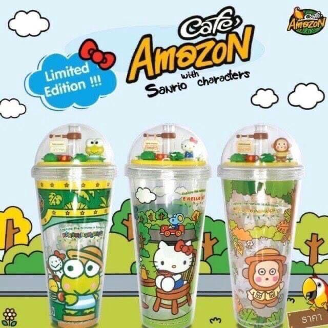 泰國最新Amazon cafe 限定版Sanrio聯名700m