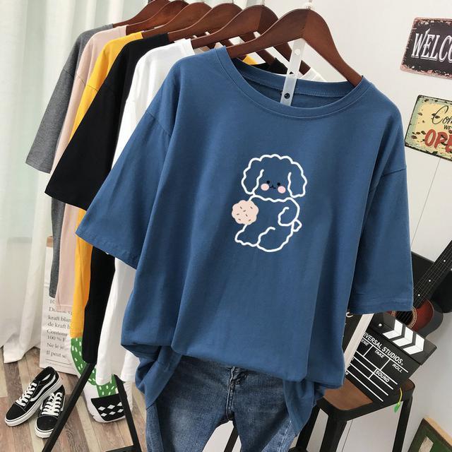 (預購)短袖t恤寬鬆遮肚純棉上衣