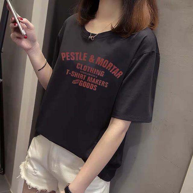 宽松显瘦短袖T恤女 春夏新款半袖上衣