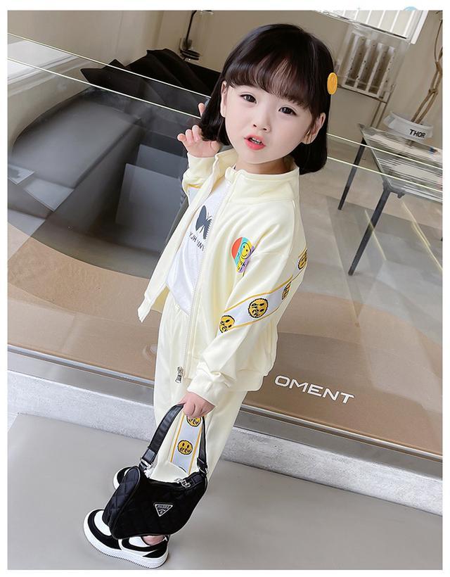 女寶寶時髦兩件套韓版兒童春装運動套裝(貝)