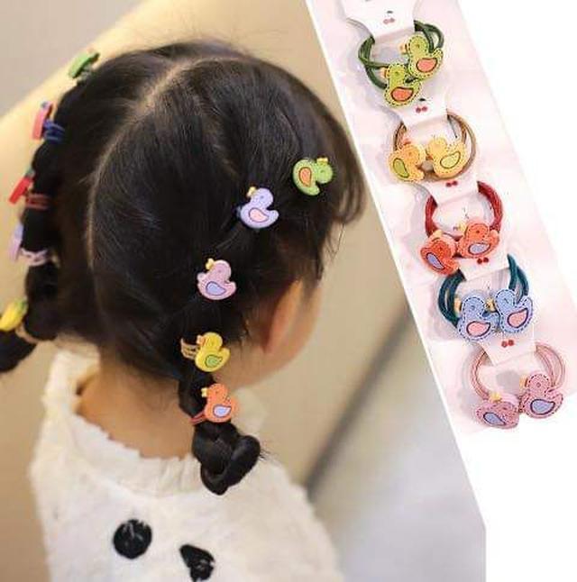 (預購S) 可愛造型紮頭小髮圈10條組