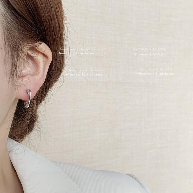 冷淡風光面愛心耳環女日韓個性簡約小巧氣質時尚耳釘高街耳飾