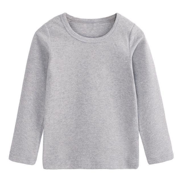 兒童秋衣上衣單件打底衫男女童保暖內衣中大童小學生男孩秋冬季潮