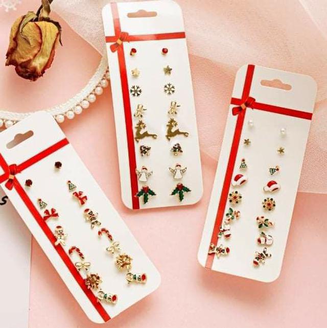 (預購S) H129 - 聖誕節8副耳環套組