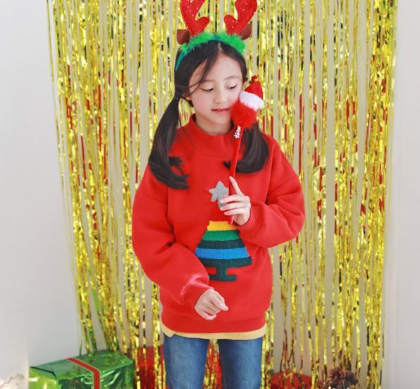 11 聖誕元氣紅抓絨衛衣 親子裝 9264