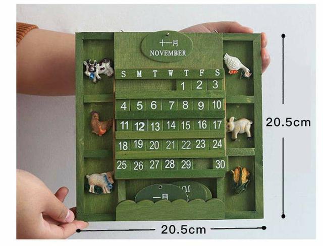 (預購S) G600 - 手工製作木制高質感日曆組