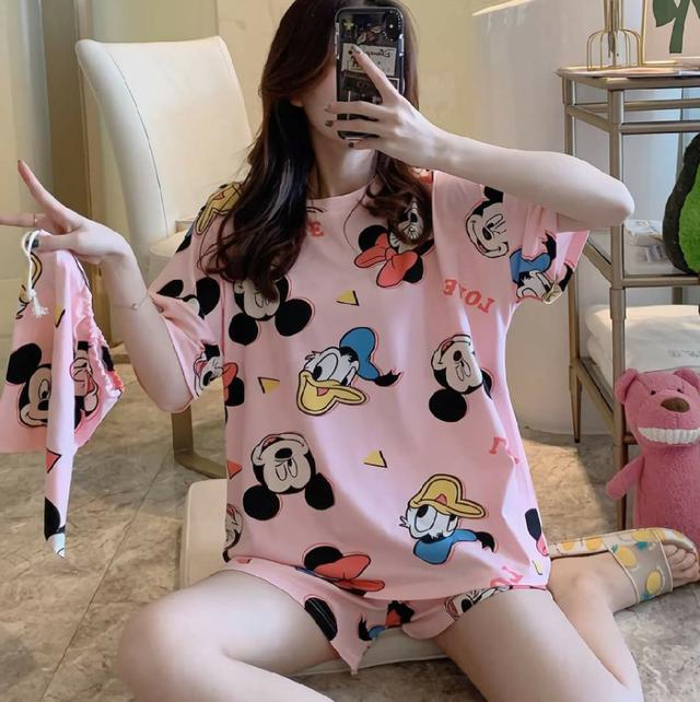 (預購s+) D030-甜美寬鬆睡衣家居服套裝