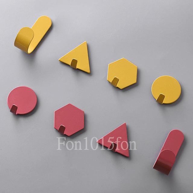 《幾何造型裝飾牆面小掛鉤》