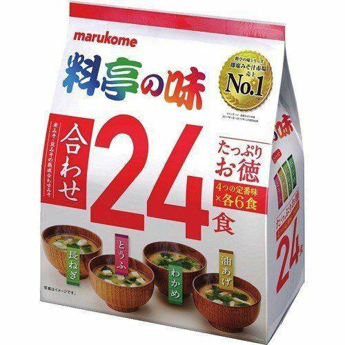Marukome 料亭之味 一休24入 味噌湯-綜合紅/味噌湯-減鹽綠